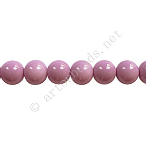 *Baking Painted Glass Bead - Round - Violet - 6mm - 65pcs