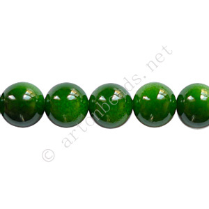 Baking Painted Glass Bead - Round - Forest Green - 8mm-50pcs