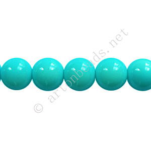 *Baking Painted Glass Bead - Round - Baby Blue - 8mm - 50pcs