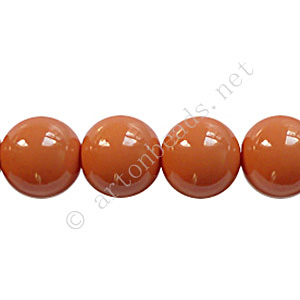Baking Painted Glass Bead - Round - Copper Brown - 10mm-40pcs