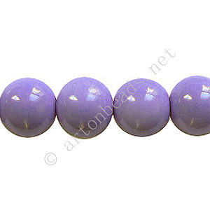 *Baking Painted Glass Bead - Round - Lavender - 10mm - 40pcs