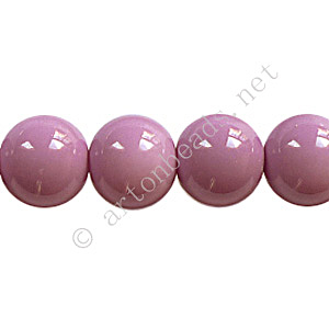 Baking Painted Glass Bead - Round - Violet - 10mm - 40pcs