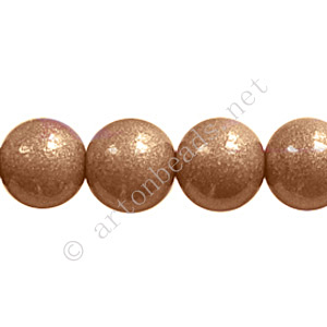 Baking Painted Glass Bead - Round - Light Brown - 10mm-40pcs