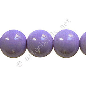 Baking Painted Glass Bead - Round - Lavender - 12mm - 34pcs