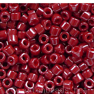Japanese Miyuki Delica Beads - Cranberry Red Dyed -11/0 -1 Vial