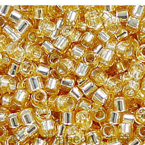 Japanese Miyuki Delica Beads - Gold Silver Lined-11/0 -1 Vial