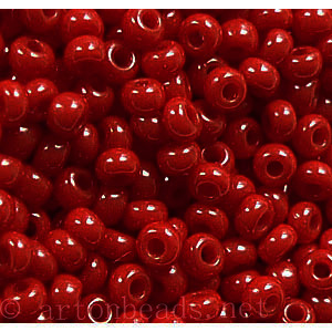 Czech Seed Beads - Dark Red Opaque - 11/0 -1 Vial