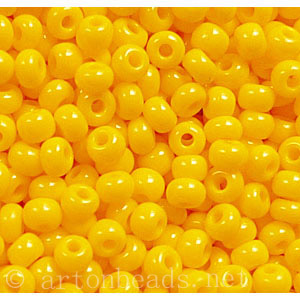 Czech Seed Beads - Golden Yellow Opaque - 11/0 - 1 Vial