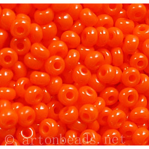 Czech Seed Beads - Orange Opaque - 11/0 - 1 Vial
