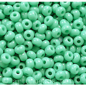 Czech Seed Beads - Turquoise Opaque - 11/0 - 1 Vial