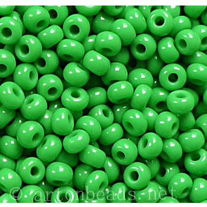 Czech Seed Beads - Medium Green Opaque - 11/0 - 1 Vial