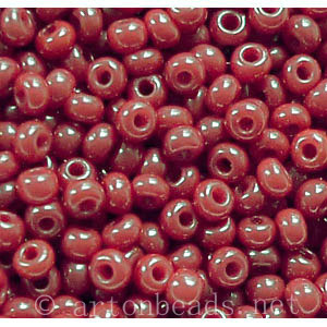 Czech Seed Beads - Cranberry Opaque - 11/0 - 1 Vial