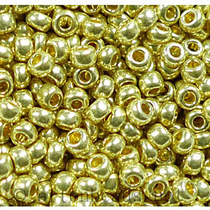 Czech Seed Beads - Light Gold Matallic l - 11/0 - 1 Vial