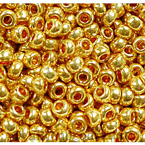 Czech Seed Beads - Gold Matallic - 11/0 - 1 Vial