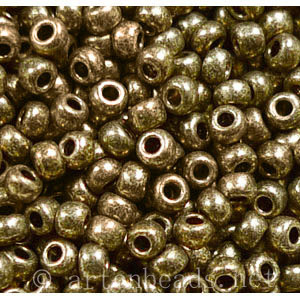 Czech Seed Beads - Steel Matallic Terra - 11/0 - 1 Vial