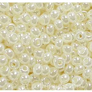 Czech Seed Beads - Ceylon Opaque Dyed Pearl - 11/0 - 1 Vial