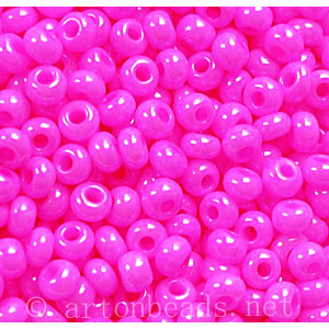 Czech Seed Beads - Rose Opaque Dyed - 11/0 - 1 Vial