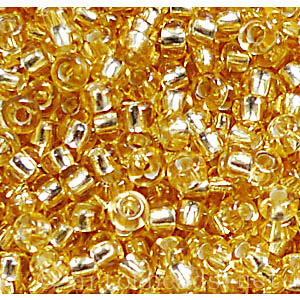 Czech Seed Beads - Light Gold Silverlined - 11/0 - 1 Vial