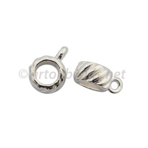Pendant Holder - 925 Silver Plated - 8x5mm - 15pcs