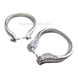 Ring Base 925 Silver Plated - Size 7 - 2pcs