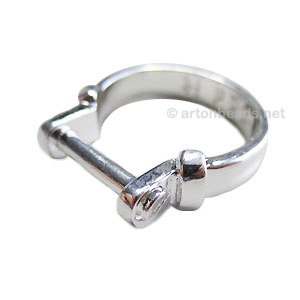 *Pando Ring Setting - Screw on - Size 8 - 1pc