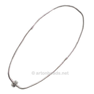 Pando Style Necklace - 925 Silver Plated - 18 inches - 1pc