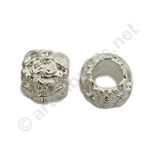 Large Hole Metal Bead - 7x9mm - 8pcs