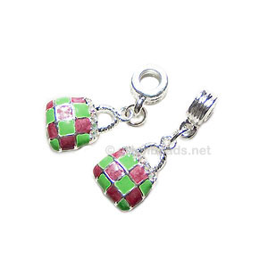 Enamel Charm with Holder - Bag