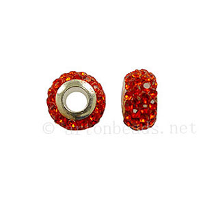 Large Hole Full Diamond Ball - Hyacinth - ID 4.8mm - 2pcs