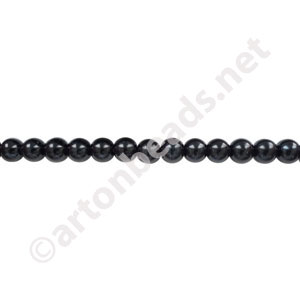Black - Chinese Glass Pearl - 4mm - 32""