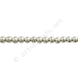 Grey - Chinese Glass Pearl - 4mm - 32""