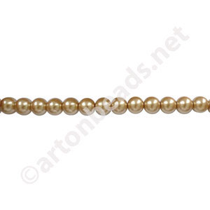 Golden - Chinese Glass Pearl - 4mm - 32""