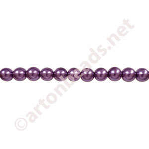 Dark Purple - Chinese Glass Pearl - 6mm - 30""