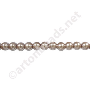 Light Brown - Chinese Glass Pearl - 6mm - 31""