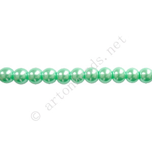 Medium Blue - Chinese Glass Pearl - 6mm - 32""