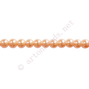 Silk - Chinese Glass Pearl - 6mm - 32""