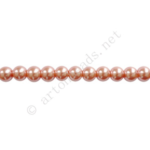 Vintage Rose - Chinese Glass Pearl - 6mm - 32""