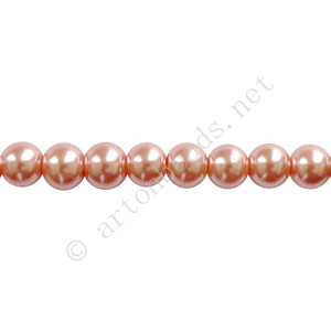 Vintage Rose - Chinese Glass Pearl - 8mm - 32""