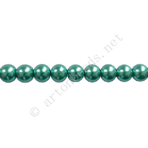 "Turquoise Blue - Chinese Glass Pearl - 8mm - 32"" - Click Image to Close"