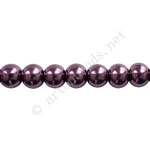 Amethyst - Chinese Glass Pearl - 10mm - 32""
