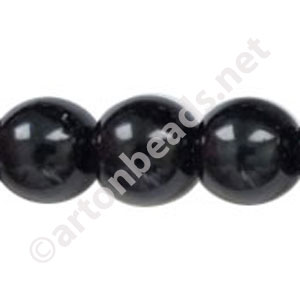 Black - Chinese Glass Pearl - 14mm - 32""
