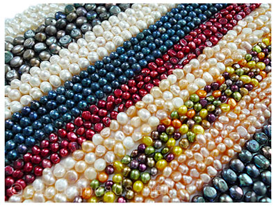 Freshwater Pearl Strands - 4 assorted mix color strands