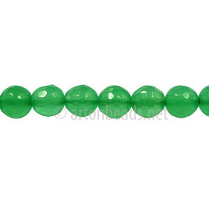 Colored Agate - Aventurine - Faceted Round - 6mm - 15""