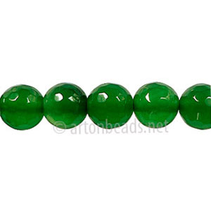 Colored Agate - Aventurine - Faceted Round - 8mm - 15""