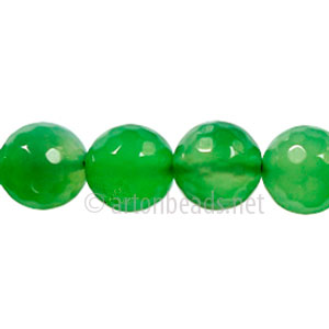 Colored Agate - Aventurine - Faceted Round - 10mm - 15""