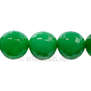 Colored Agate - Aventurine - Faceted Round - 12mm - 15""