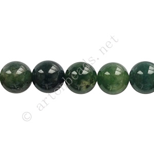 Moss Agate - Round - 8mm