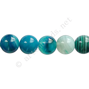 Stripe Agate - Blue - Round - 8mm