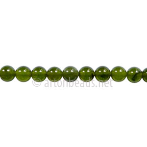 Enhanced Green Jade - Round - 4mm