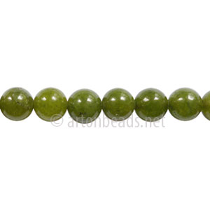 Enhanced Green Jade - Round - 6mm